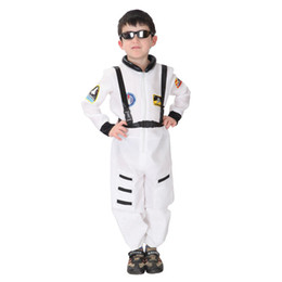 Wholesale Uniforms For Children Wholesale - 2017 Halloween carnival fancy dress anime cosplay kids airline uniform child astronaut halloween costume for party favor