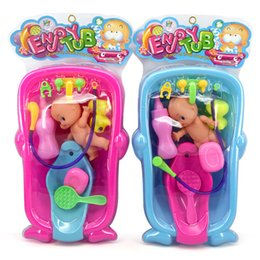 12 pollici Baby Bath Doll Giocattoli antistress Reborn Bath Interactive Dolls Bambini Infant Early Educational Play Set Summer Shower Toy da