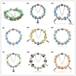 Canada Starfish usine de perles de verre en argent tibétain Bracelet à breloques, bracelet de perles européennes bricolage femmes neuves 6 pièces beaucoup de style mixte GTPDB9 cheap mix style bracelet brand Offre