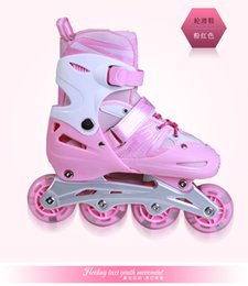 Wholesale Roller Skates For Men - Children skates inline skates adjustable roller skates eight full suit flash skate shoes for men and women