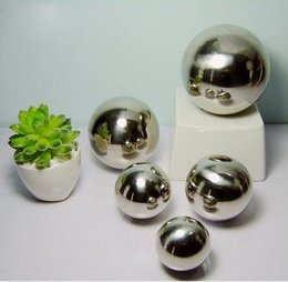 Wholesale One Artificial - Stainless Steel Hollow Decoration Ball Metal Ball Furnishings Home &Garden Decoration Improvement 80mm ,90mm 100mm One Set .