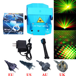 Wholesale Laser Music Projector - Mini Laser Project Audio Music Show Laser Stage Lights Lighting Adjustment Disco DJ Party Home Wedding Club Projector