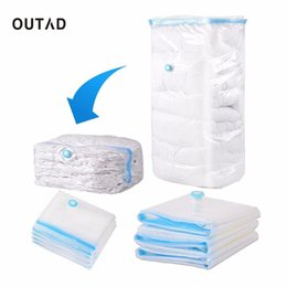 Wholesale Large Bag Plastic Package Packaging - Wholesale- OUTAD Durable Large Space Saver Saving Storage Bag Vacuum Seal Compressed Organizer Pouch basket Package for Bedding clothes