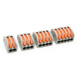 Wholesale Connector Standards - 40 pieces WAGO 222-412 222-413 222-414 222-415 type Universal Compact 2 3 5 wire connector 32A 2 3 5 pin Conductor Terminal Block 2