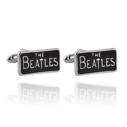 Wholesale rock band tops - United Kingdom Classic The Beatles Rock Band Style Cufflinks For Mens And Women Gifts Top High Quality Brand Cuff Links Buttons 0903817-5