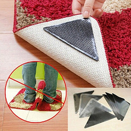 Wholesale Anti Skid Pvc - Wholesale- Rug Carpet Mat Grippers Non Slip Anti Skid Reusable Washable Silicone Grip 4 Pairs