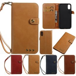 Wholesale Phone Battery Blackberry - Luxury Genuine Leather Case for iPhone 8G 7 Plus 6S Plus Flip Magnetic Cover Wallet Phone Bag Detachable Note 8 Cell Phone Case