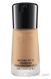 Wholesale Mineralize Foundation Spf15 - 2016 Waterproof Makeup Face Mineralize Moisture Brighten Liquid Foundation Spf15 30ML NEW IN BOX with retail box