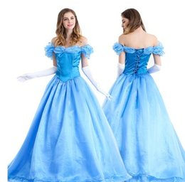 Wholesale Belle Beauty Beast Costumes Adults - Beauty and the Beast princess belle adult women Fancy Dress Cosplay Costume female Halloween role-playing fancy Costume Suit