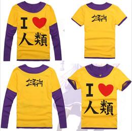 Falsche spiele online-Großhandels-2 Arten KEIN SPIEL KEIN LEBEN Sora Cosplay langes Hülsen-beiläufiges T-Shirt Unisexmann-Frauen-Baumwollhemden falsches zwei Stück-T-Shirt