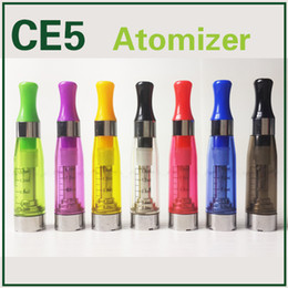 Wholesale Ego Starter Kit Ce5 Clearomizer - CE5 Clearomizer No Wick Cartridge Upgraded Ego CE4 Atomizers 1.6ml E Cigarette 510 Pyrex Tank For eGo-T Evod Battery E-Cig Starter kits