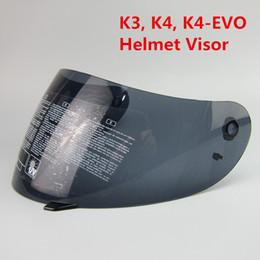 Wholesale Motorcycle Helmet Full Face Visor - A G V Full Face Racing Motorcycle Helmet Lens SHIELD K3 K4 K4-EVO VISOR (Not For K3-SV) Colors Black, clear, Silver, Plated Blue