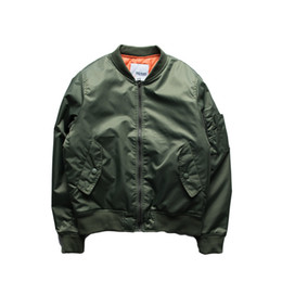 Wholesale Big Force - Fall-New 2016 Hip Hop Air Force Pilot Jacket Solid Color Big Yards Baseball Uniform Jacket Couple Varsity College Bomber Jacket Men