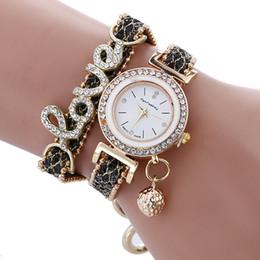 Wholesale Steel Butterfly Bracelets - 2017 New Women's Creative Alloy Diamond LOVE Bracelet Luxury Watch Student Ladies Fashion Aaa Watch