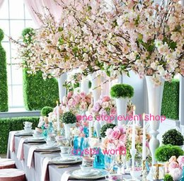 Wholesale Wedding Flower Table Stands - high wedding table decoration wedding flower ball stand centerpieces without aritificial rose flower