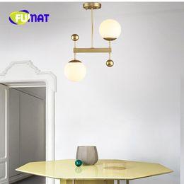 Wholesale Ball Posts - FUMAT Post-modern Creative Dining Room Pendant Light Nordic Minimalist Glass Ball Light Desinger Studio Cafe Light With Led Bulbs