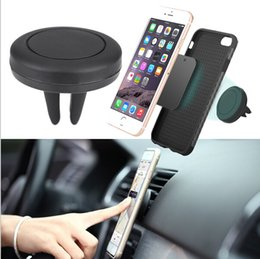 Gps de montage d'évent à vendre-Universal Car Air Vent Téléphone Mobile Mount Magnetic Support Stand Cradle Pour Cell Phone GPS Tablet Avec Retail Package