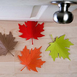 Wholesale Cute Door Stoppers - Cute Cartoon Leaf Style door stopper Silicon Doorstop safety for baby Home decoration 3 Colors
