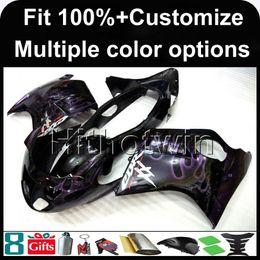 Wholesale Honda Blackbird - 23colors+8Gifts Injection mold purple flames 1997 1998 1999 2000 2001 2002 2003 CBR1100XX 97-03 Blackbird motorcycleFairing for Honda