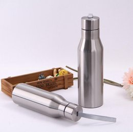 Wholesale Bicycle Insulated Bottle - 500ML Stainless Steel Sports Bottle Outdoor Bicycle Portable Water Bottles Insulated Vacuum Flask Car Kettle OOA3806