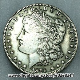 Wholesale Money Draw - 1895-O US Morgan Silver Dollar replica high quality Free shipping 27g 38mm Brass plated with silver