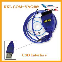 Wholesale Audi Diagnostic Connectors - VAG 409 Cable OBD2 USB KKL VAG 409.1 VAG KKL USB 409 Car Diagnostic Interface For Audi And VW
