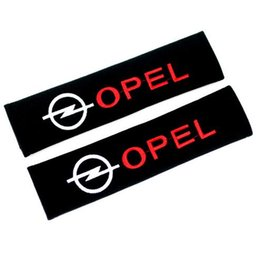 Wholesale Seat Belt Cushion Pads - 2pcs Safety Car Seat Belt Shoulder Pad Cover Car Seat Belt Cushion Car Styling for OPEL astra h astra g insignia OPEL mokka
