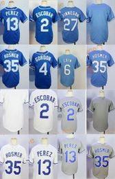 Wholesale Mixed Light S - 2017 Kids Stitched Kansas City 35 Hosmer 4 Gordon 13 Perez 30 Ventura 6 Cain Dark Light Blue White Gray Baseball Jerseys Mix