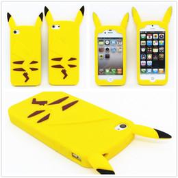 Wholesale Iphone Cases Pikachu - Cartoon 3D Poke Pikachu Soft Silicone Gel Case For Iphone 5 5S SE 6 6S Plus