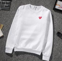 Wholesale Sweat Crewneck - designer red heart hoodies for men women crewneck sweatshirt sweats Harajuku sportwear streetwear cdg play hoodie mens hip hop hoodies kanye