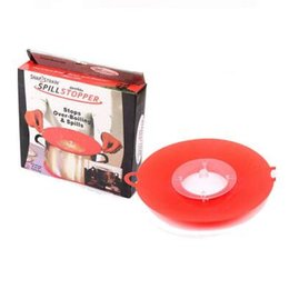 Wholesale Boiling Pan - Boil Spill Stopper Silicone Lid Pot Lid Cover Cooking Pot Lids Utensil Pan Cookware Parts Kitchen Accessories CCA7686 40pcs