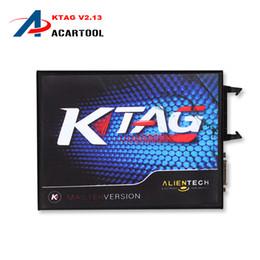 Wholesale Free Programming Tools - 2016 High Quality 2.13 KTAG K TAG ECU Programming Tool Master Version No Token Limited K TAG Hardware 6.070 Free Shipping