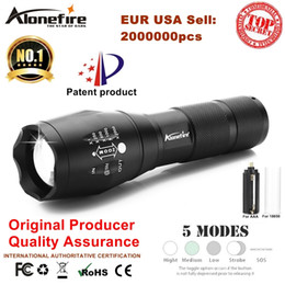 Wholesale Power Led Lights - AloneFire E17 XML T6 3800Lumens High Power LED Zoomable Tactical LED Flashlights torch light for AAA or 18650 battery