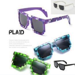 Wholesale Trendy Frames For Glasses - 5 Colors Novelty Vintage Mosaic Sunglasses for Kids Square Unisex Mosaic Sunglasses Trendy Mosaici Glasses Kids Party Prop CCA8203 120pcs