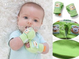 Wholesale Baby Scratch - Hot Sale 1 Pair Baby infant Soft Cotton Rattles Anti-scratch Mittens Gloves Handguard