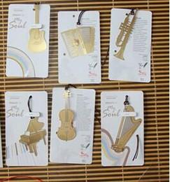 Marcadores coreanos online-Classic Stationery Music Instrument gold Plated Marcadores Shool Material de oficina Accesorios de escritorio Korean Stationery