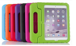 Wholesale ipad shock proof cover - Black EVA Kids Friendly Soft Thick Foam Shock proof Case for iPad mini 4 9.7 inch Stand cover