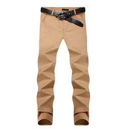 Wholesale Button Fly Chinos - Wholesale-Mens Harem Pants New 2016: Slim Fit Male Pantalones Sarouel Homme Casual Dress Pants Trousers Chinos with 8 Colors, Size 28-36