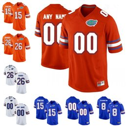 Wholesale Florida Gators Football - Mans Florida Gators 25 Jordan Scarlett 15 Eddy Pineiro 13 Feleipe Franks Old Royal Blue White Orange Stitched College Football Jerseys