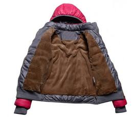 Wholesale Female Ribs - 2016 new female models sport coat plus velvet down jacket women's winter warm hooded jacket Removable wd8162 free shipping