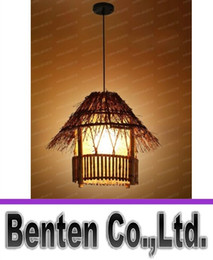 Wholesale Bamboo Pendant Lights - High quality creative southeast bamboo chandelier corridors courtyard restaurant balcony bamboo Chandelier EMS Free shipping LLFA11