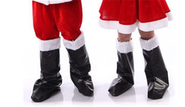 Wholesale Clothes Boots For Kids - 2016 kids adult Christmas Boot classic red Santa man shoes Christmas Stage Performance clothing 10 pcs for sales A1020082016 kids adult Chri