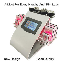Wholesale Cavitation Machines - High Quality New Model 40k Ultrasonic liposuction Cavitation 8 Pads LLLT lipo Laser Slimming Machine Vacuum RF Skin Care Salon Spa Equipment