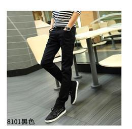 Wholesale Jeans Hole Boy - Hot Sale Men Jeans Pencil Pants Elastic Jeans Men Sports Casual Slim Fit Pants Trousers Skinny Boys Famous Brand Jean Male Denim