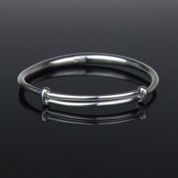 Wholesale Gifts Free Shipping - 999 Sterling Silver Bangle Bracelet One Size Adjustable Bangle for Women Metal Bracelets Handmade Silver Jewelry Free Shipping YSB003