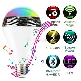 Wholesale Cheapest Price Led - New design Unique bluetooth mini speakers with smart led RGB colorful light lamp app support android and ios system, 9w e27, price cheap