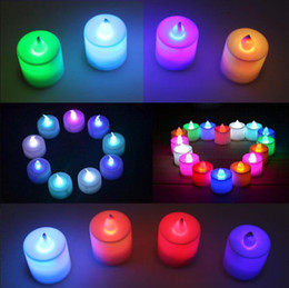 Wholesale Candle Making Free Shipping - 2017 New Hot Christmas decorations light LED candle light color electronic candle wholesale Made in China Free Shipping DHL