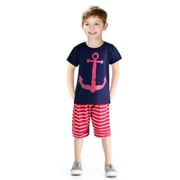Wholesale Kids Spandex Pants - 2016 Boys Clothing Set Children Sport Suits Children's Clothing Sets For Kids Cotton Clothes Set Boy T-Shirt+ Short Pant