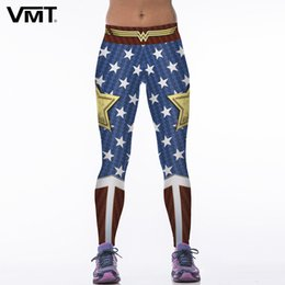 Wholesale Wholesale Superhero Pants - Wholesale- VMT Sexy Leggings Women Superhero 3D Digital Printing Exercise Pants Legging Skinny Leggings Brand New Female Elasticity Pants