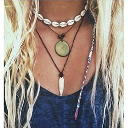 Wholesale white shell choker necklace - New handmade jewelry Simple Natural shell necklaces chokers necklaces for women free shipping